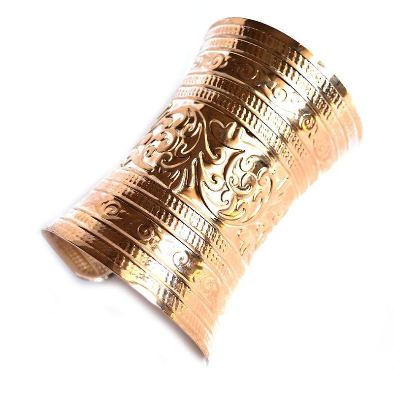 gold tribal cuff