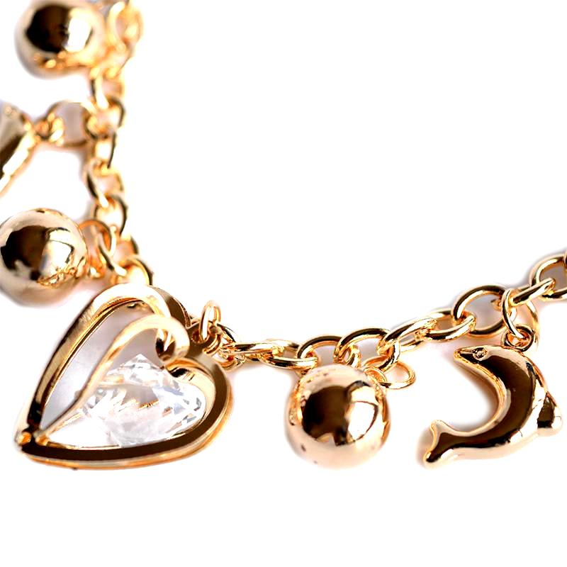 golden dolphin charm bracelet