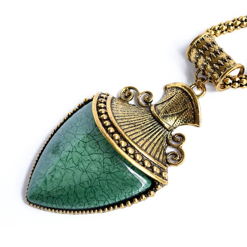 gold arrow boho necklace