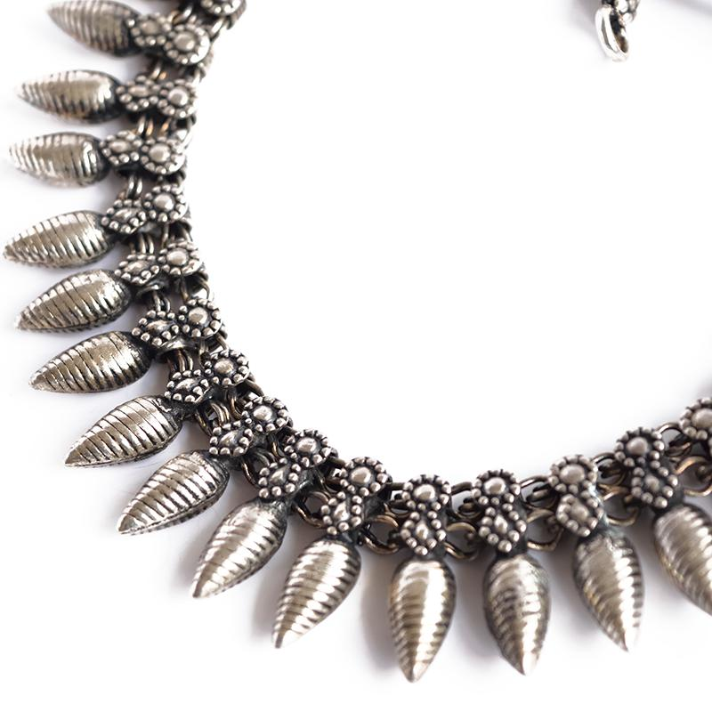 Silver Necklace closeup