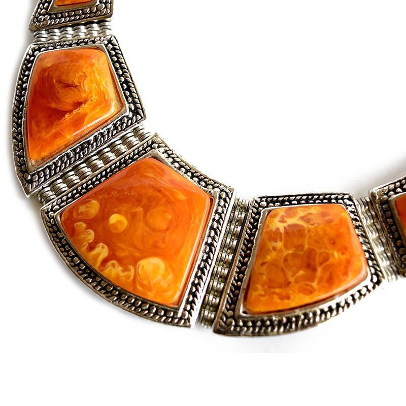 bohemian necklace closeup