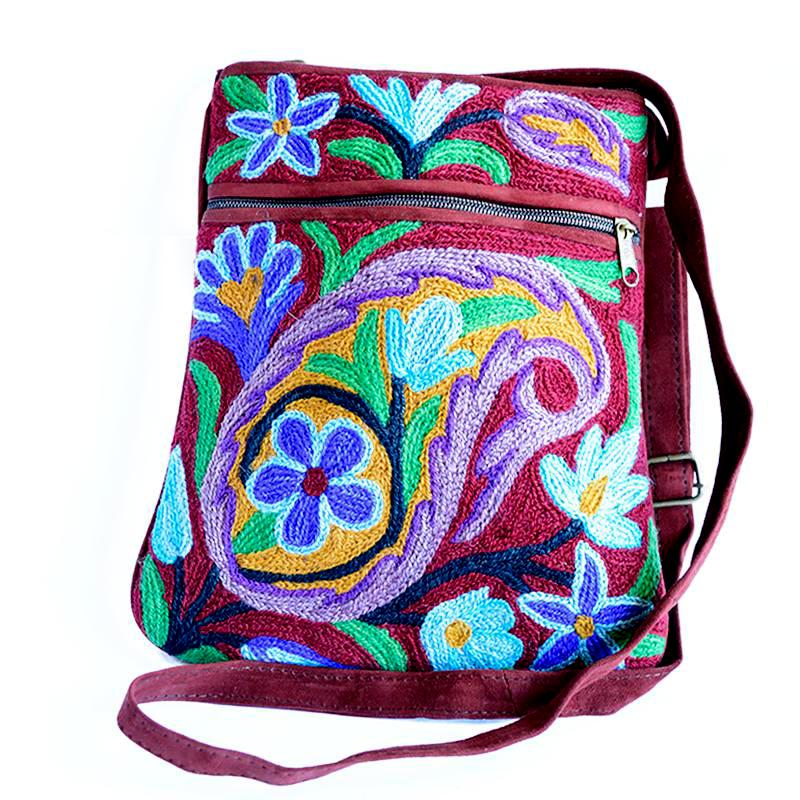 purple boho bag