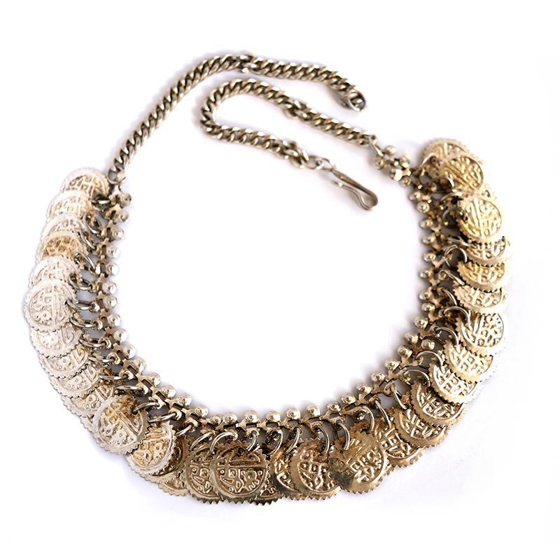 coin necklace closeup