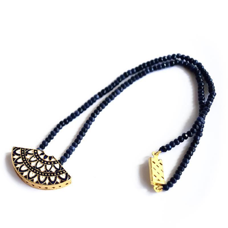 Moon Midnight Blue Necklace
