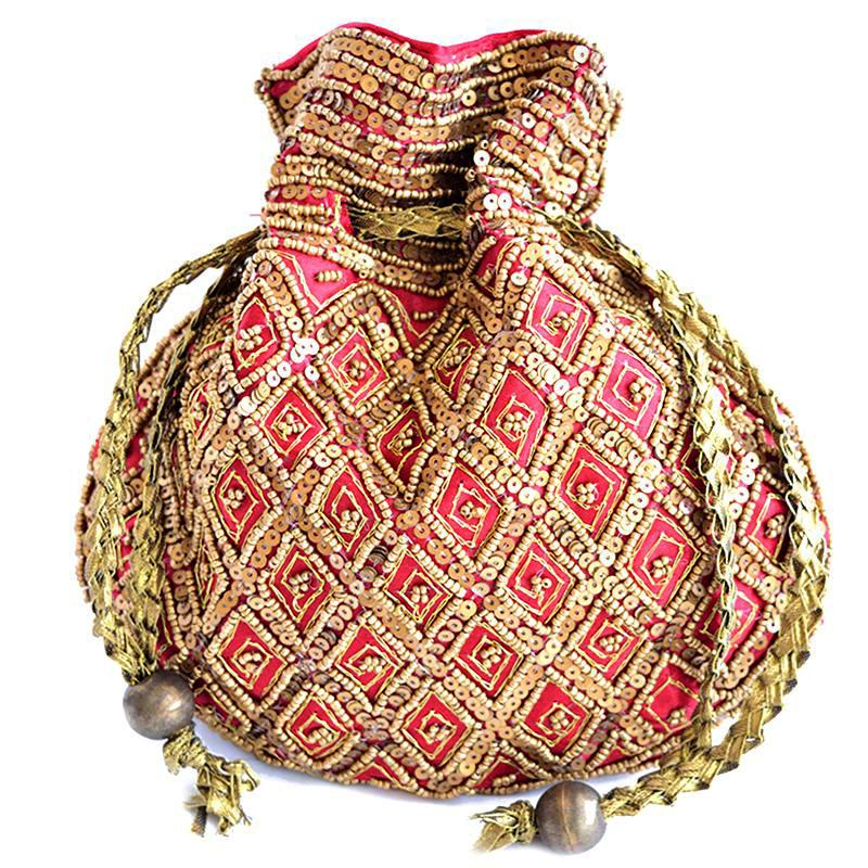 red jewellery pouch