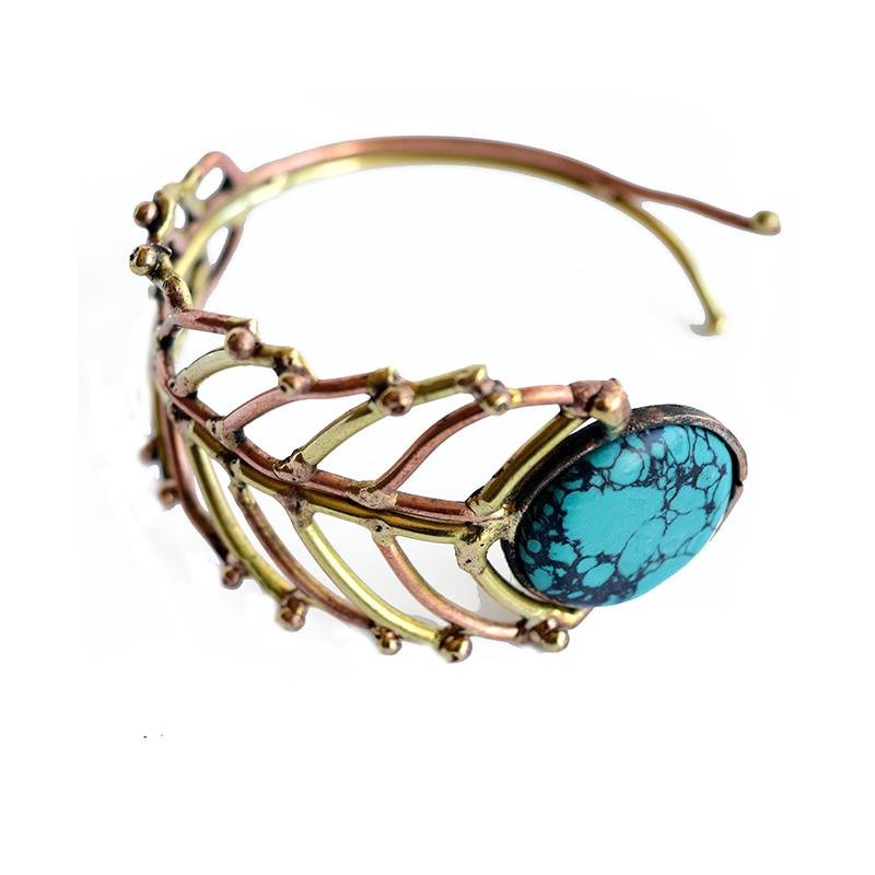 Rose Gold Fern Bangle