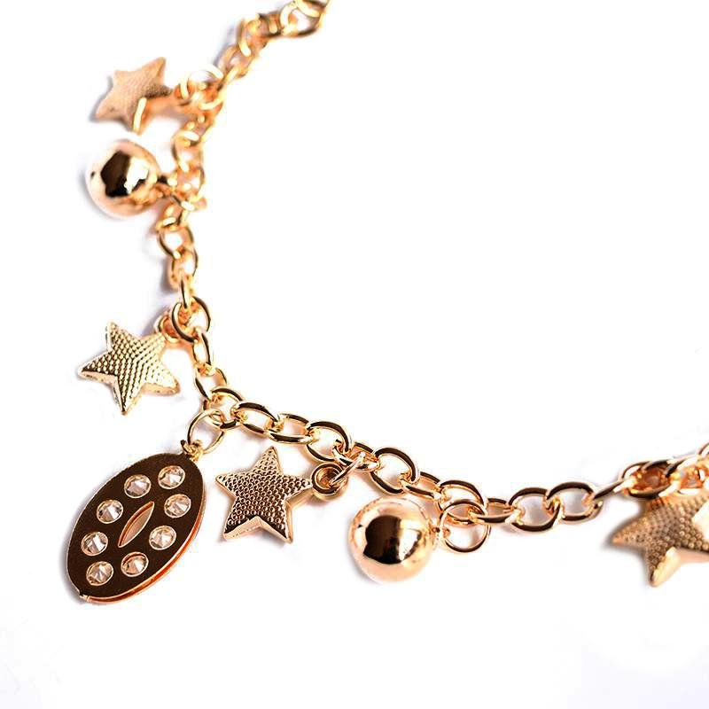 Star and Moon Charm Bracelet