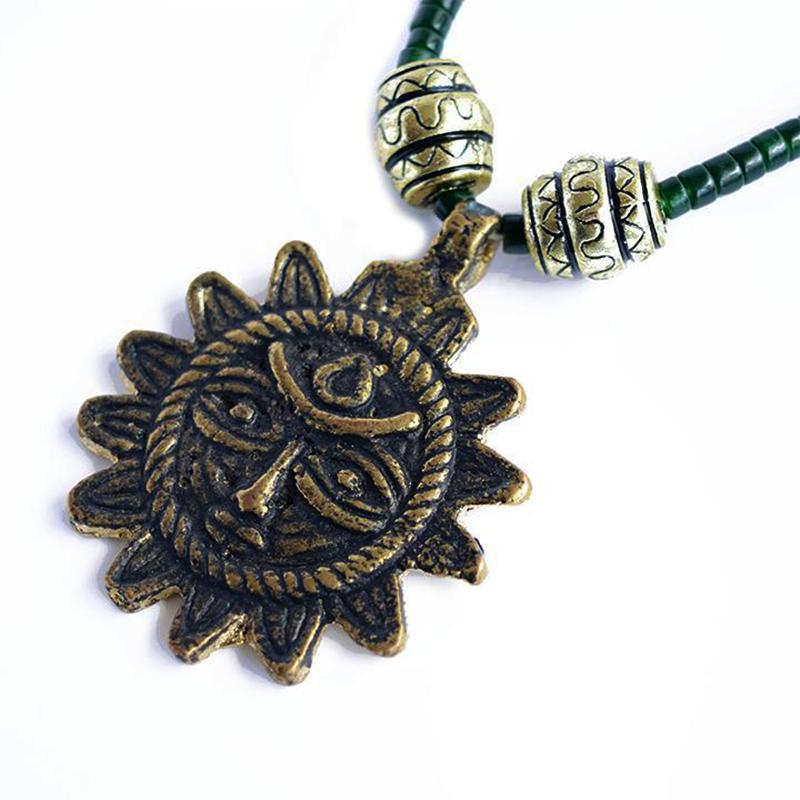 sun necklace