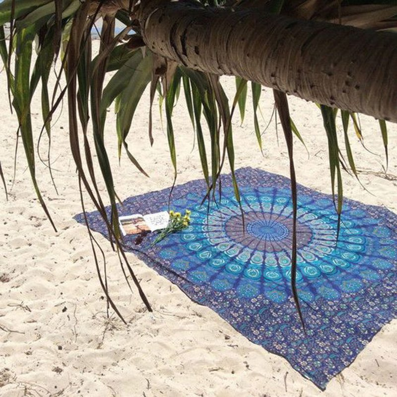 Blue Mandala Throw