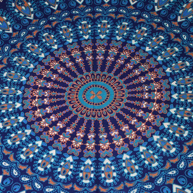 blue mandala throw zoom