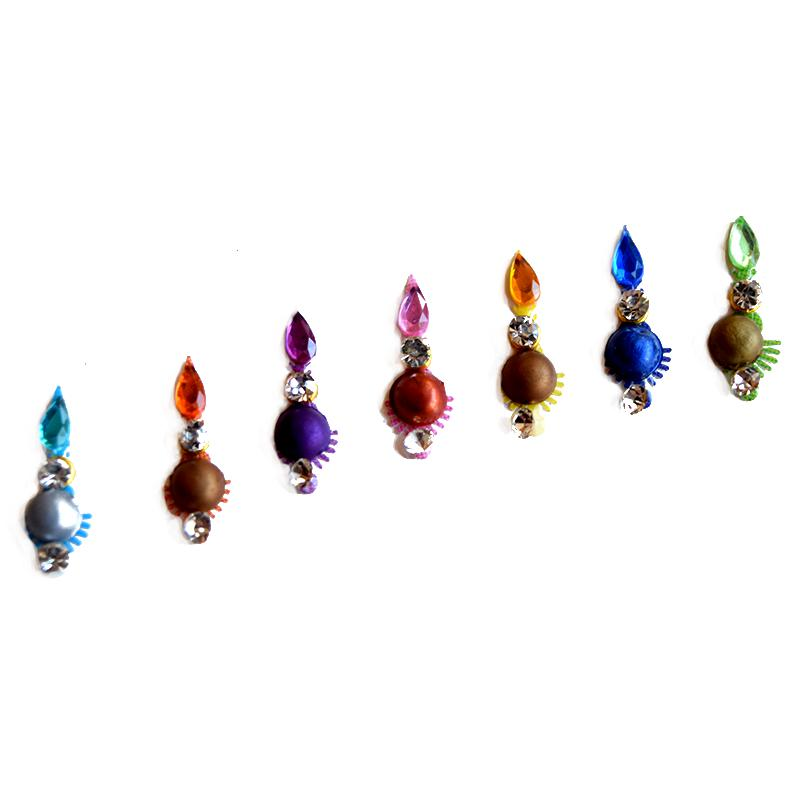 colourful crystal bindi