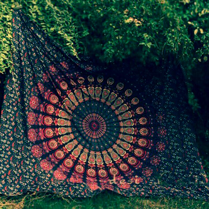 green mandala throw