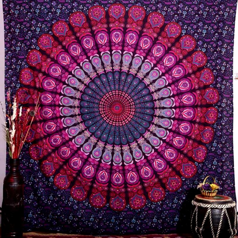 purple Mandala Throw