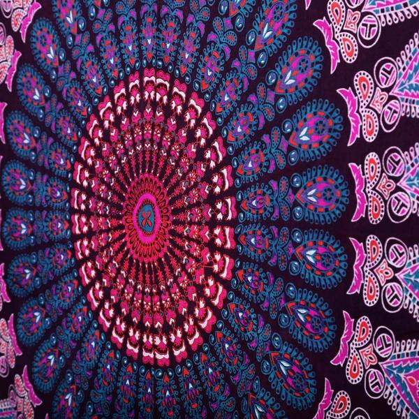 purple mandala throw closeup