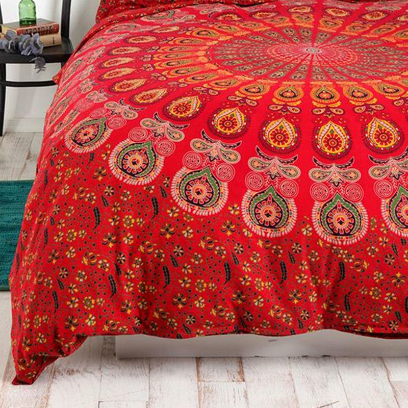 Red Mandala Throw2