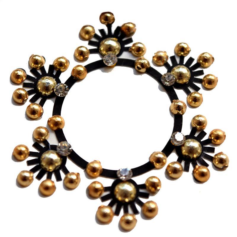 Black Gold Belly Crystal Bindi