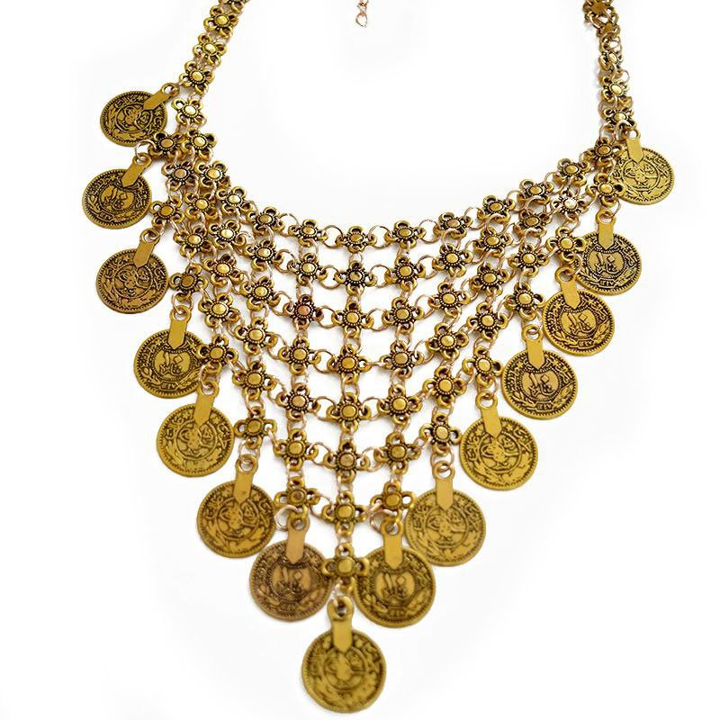 Turkish Gold Coin Necklace